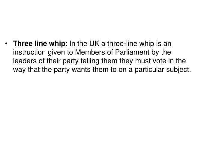Three line whip