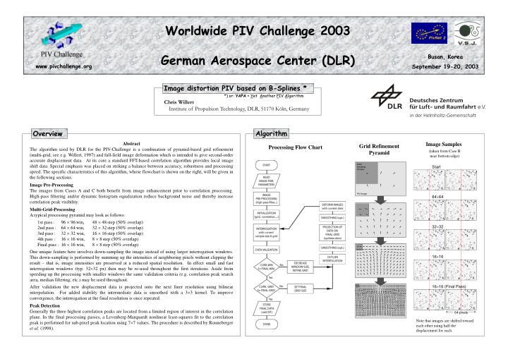 Worldwide PIV Challenge 2003