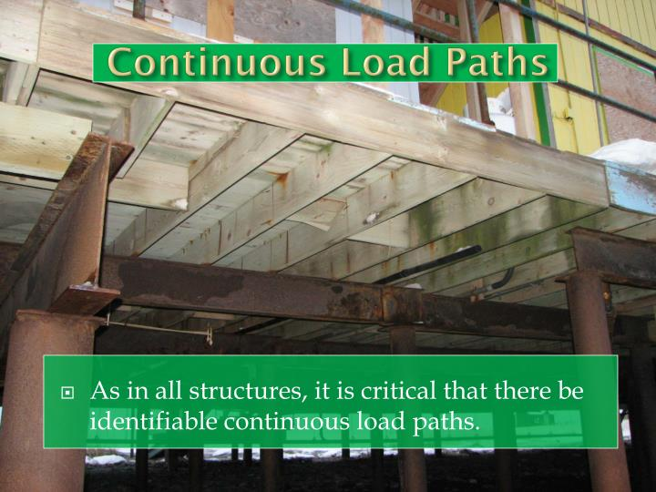 Continuous Load Paths