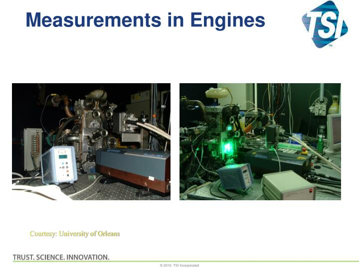 Measurements in Engines
