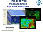 time resolved measurements high frame rate system