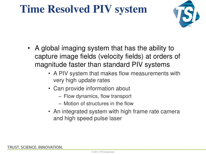 Time resolved piv system
