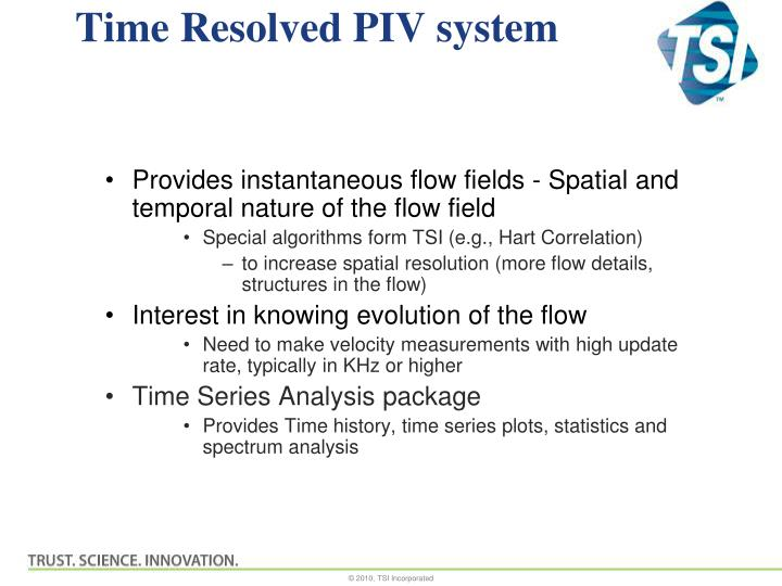 Time resolved piv system1