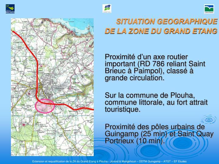 Proximité d'un axe routier important (RD 786 reliant Saint Brieuc à Paimpol), classé à grande circulation.