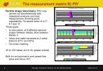 the measurement matrix b piv