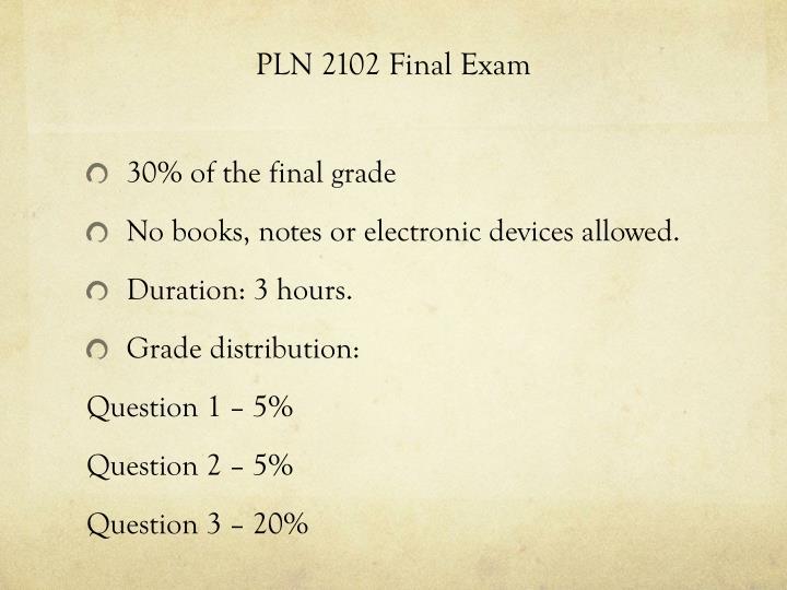 PLN 2102 Final Exam