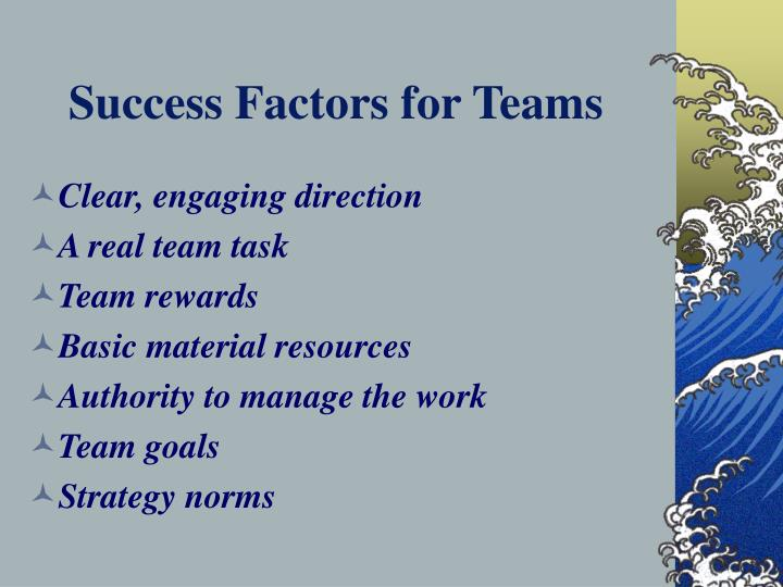 Success Factors for Teams