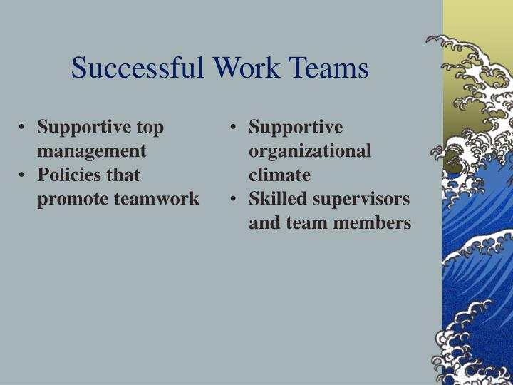 Successful work teams
