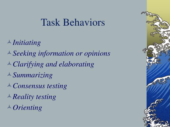Task Behaviors