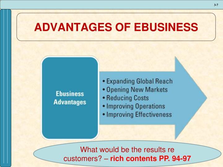 ADVANTAGES OF EBUSINESS