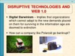 disruptive technologies and web 1 0