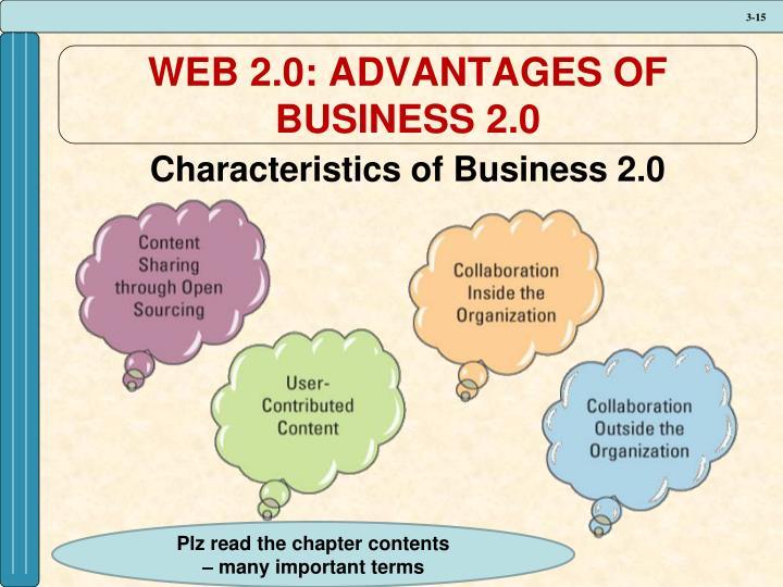 WEB 2.0: ADVANTAGES OF BUSINESS 2.0