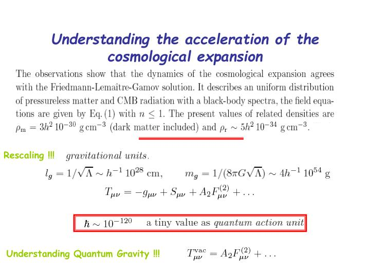 Understanding the acceleration of the cosmological expansion