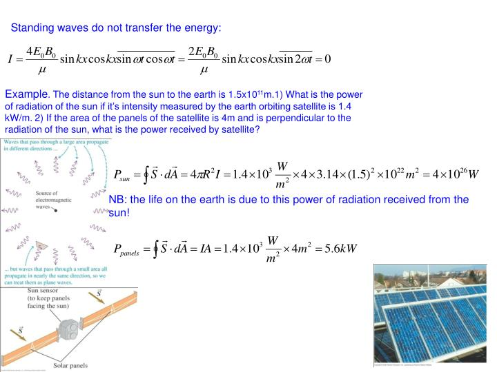 Standing waves do not transfer the energy: