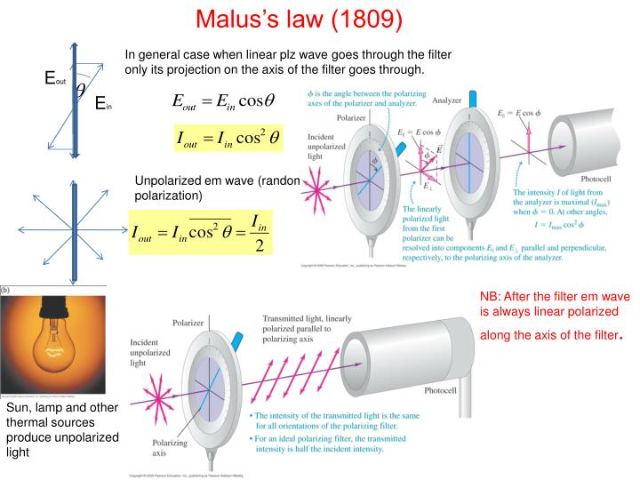 Malus's law (1809)