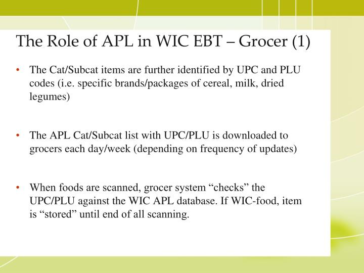The Role of APL in WIC EBT – Grocer (1)