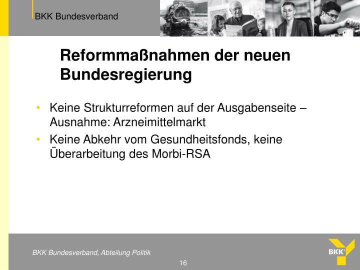 Reformmaßnahmen der neuen