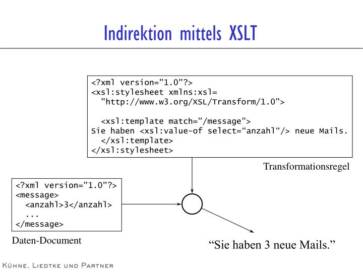 Indirektion mittels XSLT
