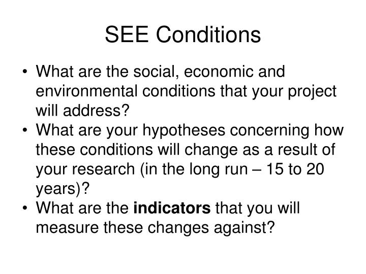 SEE Conditions