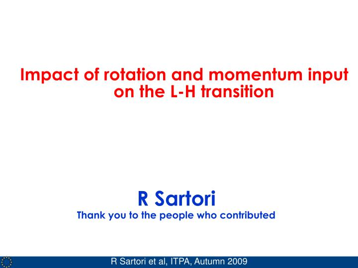 Impact of rotation and momentum input on the L-H transition