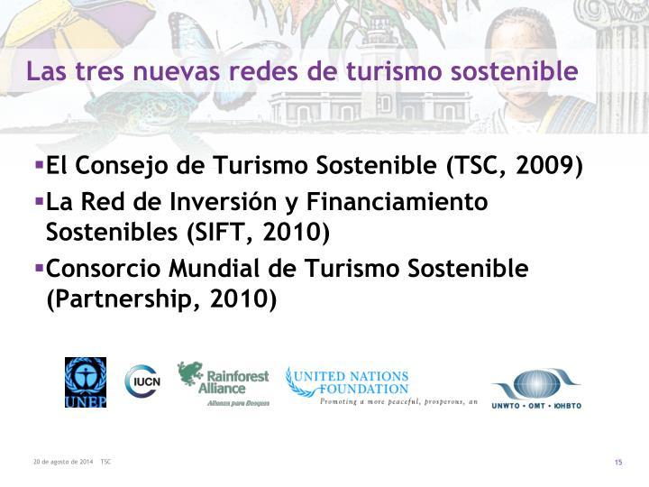 Las tres nuevas redes de turismo sostenible