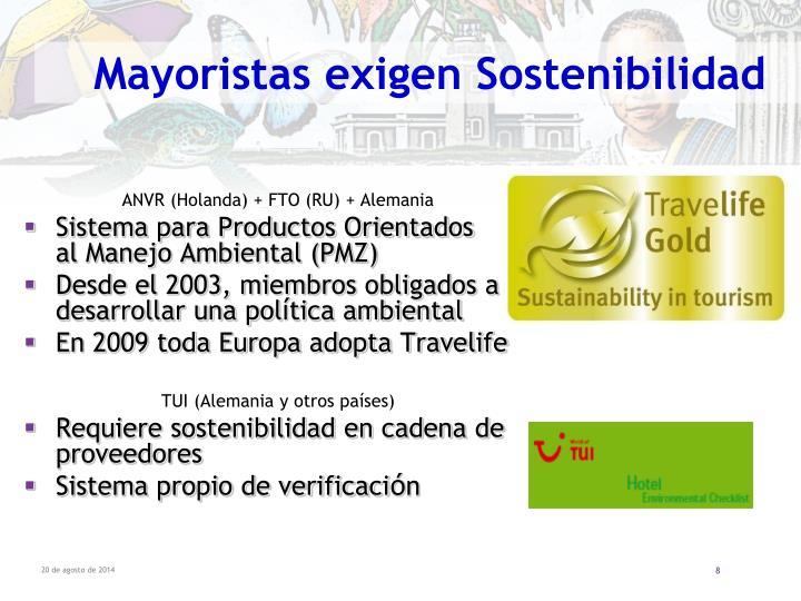 Mayoristas exigen Sostenibilidad