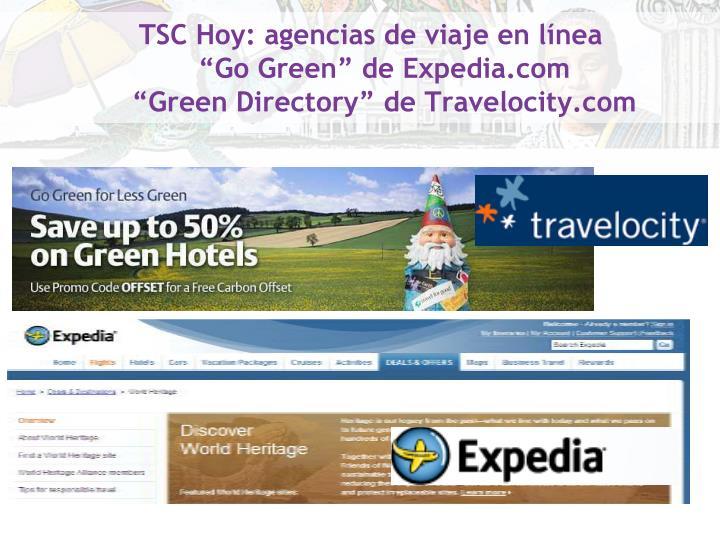 TSC Hoy: agencias de viaje en línea