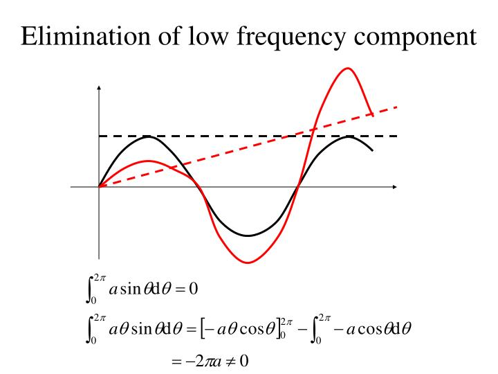 Elimination of low frequency component