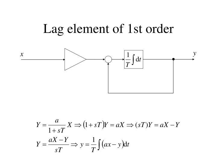 Lag element of 1st order