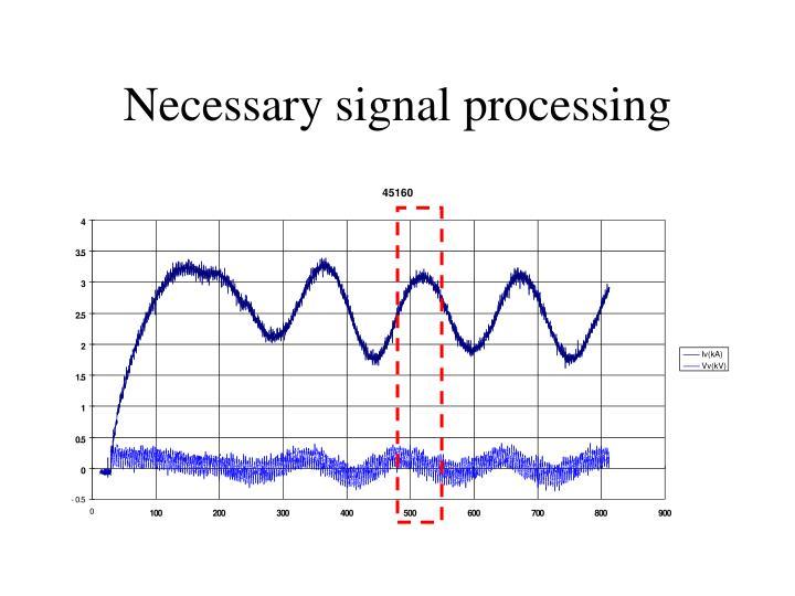 Necessary signal processing