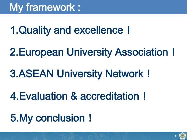 My framework :