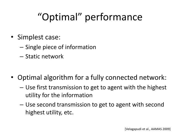 """Optimal"" performance"