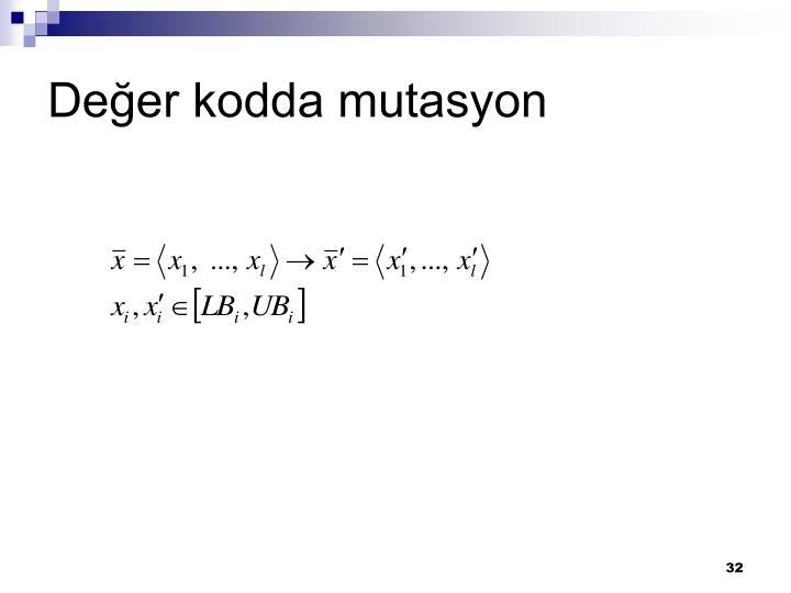 Değer kodda mutasyon