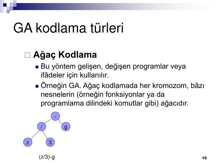 GA kodlama türleri
