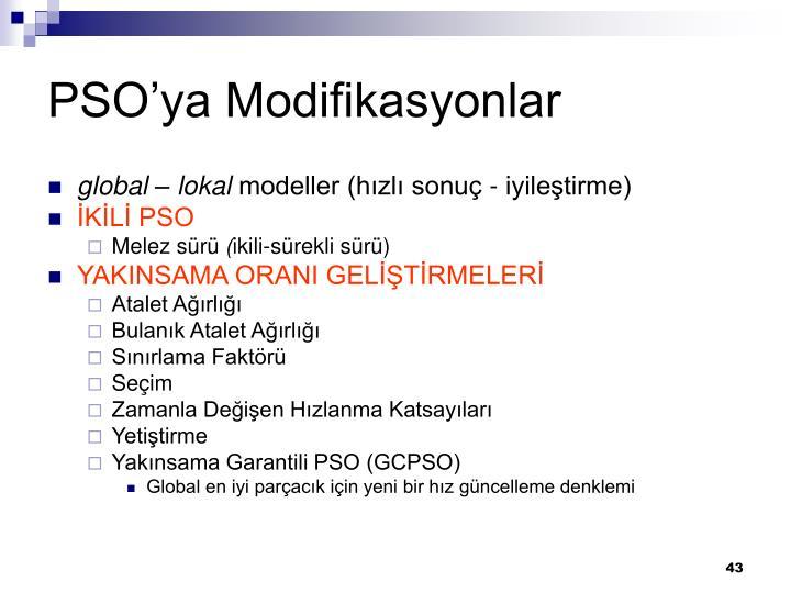 PSO'ya Modifikasyonlar