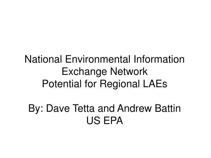 National Environmental Information Exchange Network
