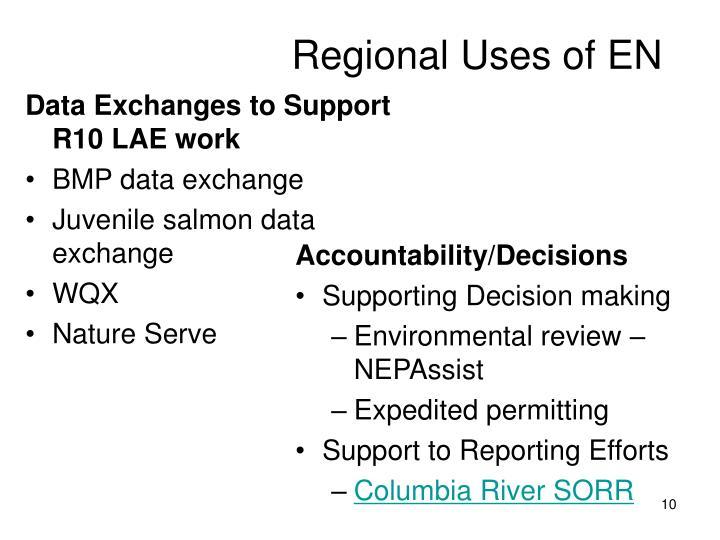 Regional Uses of EN