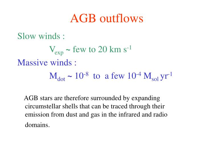 AGB outflows