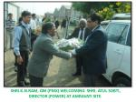 shri k n ram gm pmx welcoming shri atul sobti director power at amravati site
