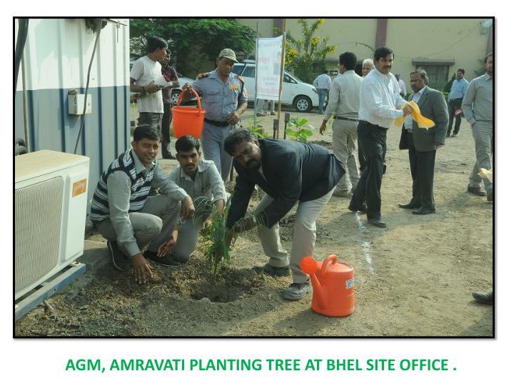 AGM, AMRAVATI PLANTING TREE AT BHEL SITE OFFICE .