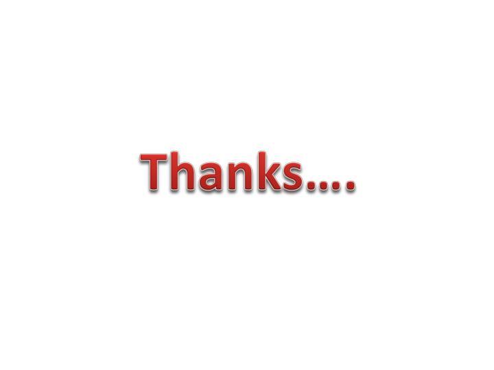 Thanks….