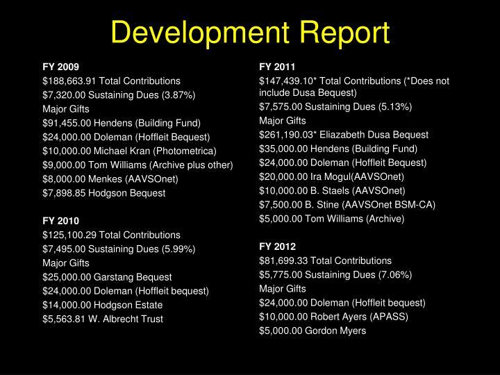 Development Report