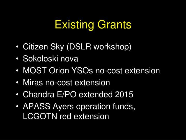 Existing Grants