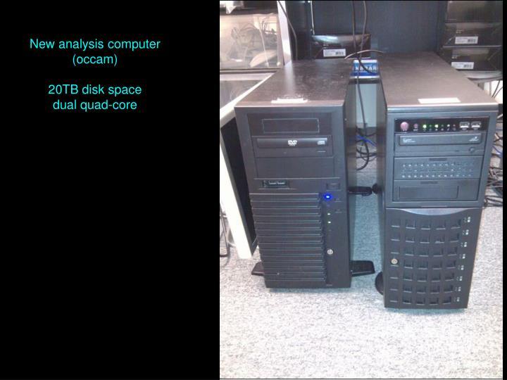 New analysis computer (occam)