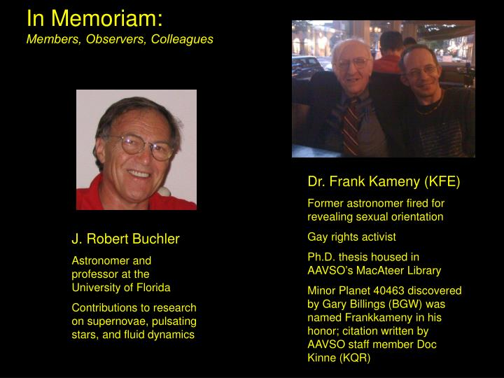 In Memoriam: