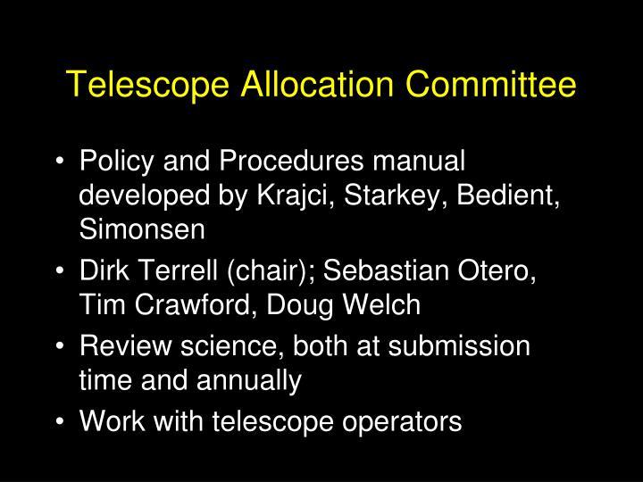 Telescope Allocation Committee