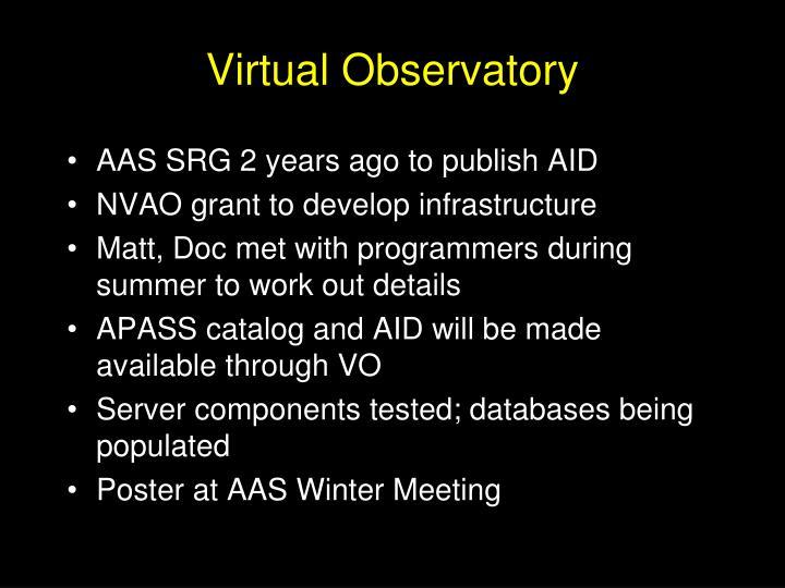 Virtual Observatory