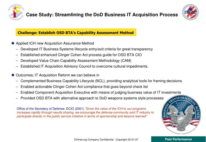 Case Study: Streamlining the DoD Business IT Acquisition Process