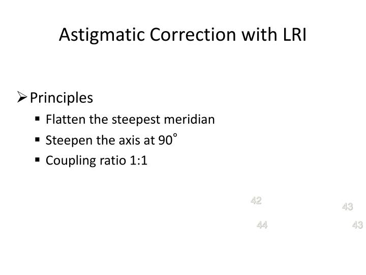 Astigmatic Correction with LRI