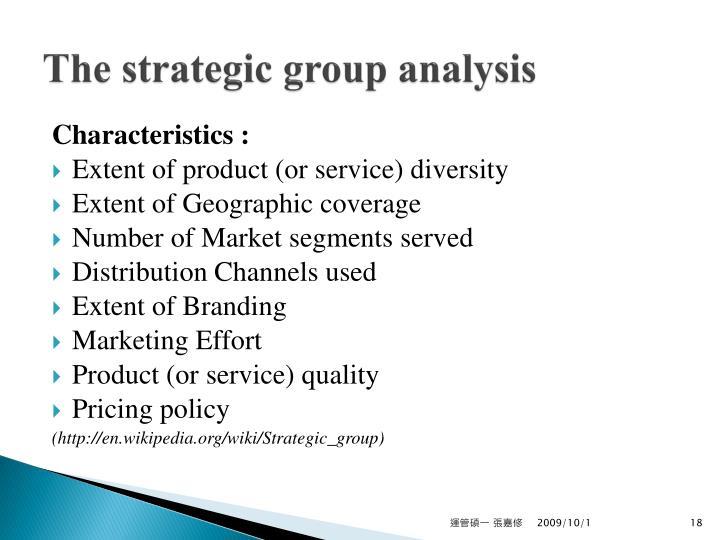 The strategic group analysis